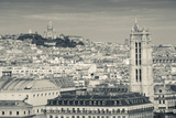 City with St. Jacques Tower and Basilique Sacre-Coeur Viewed from Notre Dame Cathedral, Paris Photographic Print by Green Light Collection