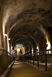 Pommery Champagne Winery Passageway to Ancient Gallo-Roman Quarries, Reims, Marne Photographic Print by Green Light Collection