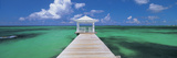 Pier in the Sea, Bahamas Photographic Print