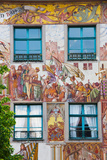Old Town Painted Building, Konstanz, Lake Constance, Baden-Wurttemberg, Germany Photographic Print by Green Light Collection