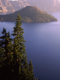 Wizard Island from Rim Village in the Crater Lake, Crater Lake National Park, Oregon, USA Photographic Print by Green Light Collection