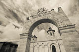 Entrance of a Winery, Chateau Cos D'Estournel, St-Estephe, Haut Medoc, Gironde, Aquitaine, France Photographic Print by Green Light Collection