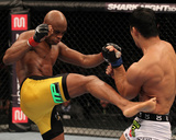 UFC 134: Aug 27, 2011 - Anderson Silva vs Yushin Okami Photographic Print by Al Bello