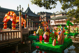 Garden Decorations by Mid-Lake Pavilion Teahouse, Yu Yuan Gardens, Shanghai, China Photographic Print by Green Light Collection