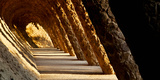 Corridor in a Park, Park Guell, Barcelona, Catalonia, Spain Photographic Print