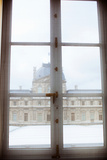 Louvre Museum Viewed Through a Window, Paris, Ile-De-France, France Photographic Print by Green Light Collection