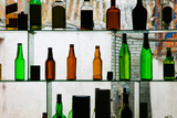 Bottles Displayed at Foreigner Bar, Old Town, Dali, Yunnan Province, China Papier Photo par Green Light Collection