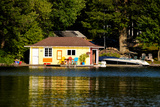 Boathouse at the Lakeside, Lake Muskoka, Ontario, Canada Photographic Print by Green Light Collection