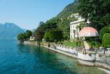 Home Along a Lake, Lake Como, Sala Comacina, Lombardy, Italy Photographic Print by Green Light Collection