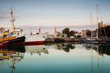 Boats at Maritime Museum, La Rochelle, Charente-Maritime, Poitou-Charentes, France Photographic Print by Green Light Collection