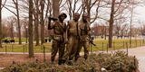 The Three Soldiers Bronze Statues at the Mall, Washington Dc, USA Photographic Print by Green Light Collection