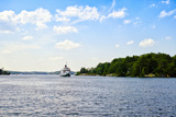 Wenonah Ii Steamship in a Lake, Lake Muskoka, Gravenhurst Bay, Ontario, Canada Photographic Print by Green Light Collection