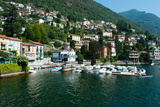 Buildings at the Waterfront, Varenna, Lake Como, Lombardy, Italy Photographic Print by Green Light Collection