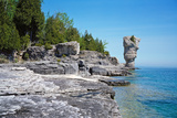 Rock Formations, Bruce Peninsula, Georgian Bay, Ontario, Canada Photographic Print by Green Light Collection