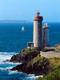 Lighthouse at the Coast, Phare Du Petit Minou, Goulet De Brest, Finistere, Brittany, France Photographic Print by Green Light Collection