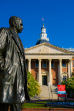 Statue with a State Capitol Building in the Background, Annapolis, Maryland, USA Photographic Print by Green Light Collection