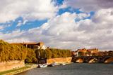 Boats at Quai De La Daurade, Toulouse, Haute-Garonne, Midi-Pyrenees, France Photographic Print by Green Light Collection