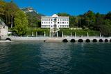 Villa at the Waterfront, Villa Carlotta, Tremezzo, Lake Como, Lombardy, Italy Photographic Print by Green Light Collection