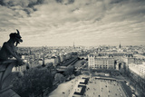 City Viewed from the Notre Dame Cathedral, Paris, Ile-De-France, France Photographic Print by Green Light Collection