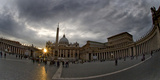 Basilica in the Town Square at Sunset, St. Peter's Basilica, St. Peter's Square, Vatican City Photographic Print by Green Light Collection