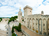 Buildings in a City, Musee Du Petit Palais, Cathedrale Notre-Dame Des Doms D'Avignon Photographic Print by Green Light Collection