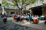 Tourists at Sidewalk Cafes, Lourmarin, Vaucluse, Provence-Alpes-Cote D'Azur, France Photographic Print by Green Light Collection