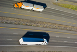Trucks Moving on a Highway, Interstate 80, Park City, Utah, USA Photographic Print by Green Light Collection