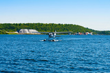 Seaplane in the Sea, Deep Bay, Parry Sound, Ontario, Canada Photographic Print by Green Light Collection