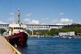 Ship at a Harbor, Parry Sound Harbor, Parry Sound, Ontario, Canada Photographic Print by Green Light Collection