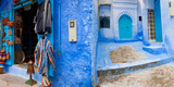 Store in a Street, Chefchaouen, Morocco Fotografisk tryk af Green Light Collection