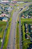 Aerial View of a Highway Passing Through a Town, Interstate 80, Park City, Utah, USA Photographic Print by Green Light Collection