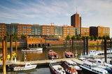 Boats Docked at a Harbor, Hafencity, Hamburg, Germany Photographic Print by Green Light Collection