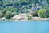 Buildings on a Hill, Villa Olmo, Lake Como, Lombardy, Italy Photographic Print by Green Light Collection