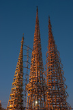 Low Angle View of the Watts Tower, Watts, Los Angeles, California, USA Photographic Print by Green Light Collection