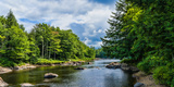 Moose River in the Adirondack Mountains, New York State, USA Photographic Print by Green Light Collection