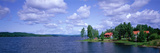 Lake and Cabin Near Falun Dalarna Sweden Photographic Print