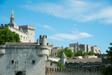 Low Angle View of City Walls, Pont Saint-Benezet, Rhone River, Avignon, Vaucluse Photographic Print by Green Light Collection
