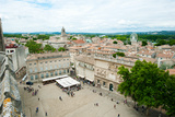 Aerial View of Square Named for John Xxiii, Avignon, Vaucluse, Provence-Alpes-Cote D'Azur, France Photographic Print by Green Light Collection