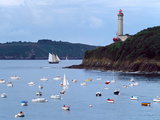 Boats and Lighthouse at Phare Du Portzic, Goulet De Brest, Finistere, Brittany, France Photographic Print by Green Light Collection