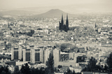 Cityscape with Cathedrale Notre-Dame-De-L'Assomption in the Background, Clermont-Ferrand Photographic Print by Green Light Collection