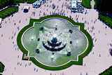 Aerial View of the Buckingham Fountain at Grant Park, Chicago, Cook County, Illinois, USA Photographic Print by Green Light Collection
