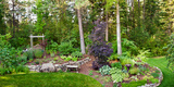 Backyard Garden in Loon Lake, Spokane, Washington State, USA Photographic Print by Green Light Collection