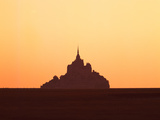 Mont Saint-Michel at Sunset, Manche, Basse-Normandy, France Photographic Print by Green Light Collection