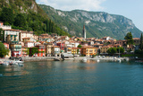 Buildings in a Town at the Waterfront, Varenna, Lake Como, Lombardy, Italy Photographic Print by Green Light Collection