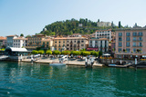 Buildings in a Town at the Waterfront, Bellagio, Lake Como, Lombardy, Italy Photographic Print by Green Light Collection