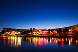 Restaurants by the Esplanade De L'Europe at Dusk, Montpellier, Herault, Languedoc-Roussillon Photographic Print by Green Light Collection