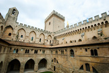 Courtyard of a Palace, Palais Des Papes, Avignon, Vaucluse, Provence-Alpes-Cote D'Azur, France Photographic Print by Green Light Collection
