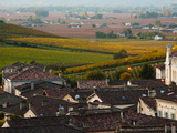 Elevated Town View with Vineyards, Saint-Emilion, Gironde, Aquitaine, France Photographic Print by Green Light Collection