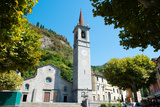 Church on Main Square, Varenna, Lake Como, Lombardy, Italy Photographic Print by Green Light Collection