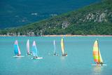 Windsurfers on the Lake, Lac De Sainte Croix, Sainte-Croix-Du-Verdon, Alpes-De-Haute-Provence Photographic Print by Green Light Collection